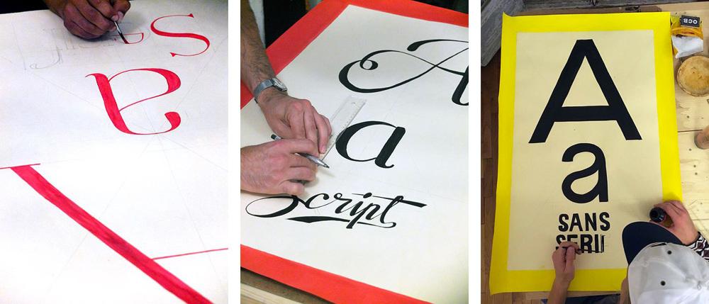 Préparation des affiches pour le workshop Street Talk #1