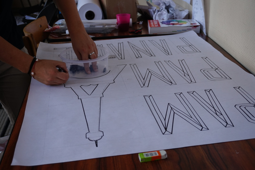 Creation affiches grandes familles typographique - Gennevilliers Street Talk #1