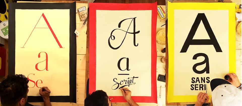 Creation affiches grandes familles typographique - Gennevilliers