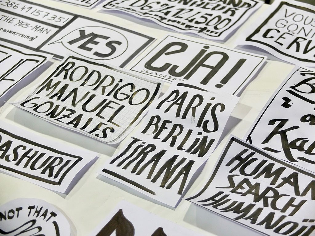 Workshop lettering/affiche/wall - Tirana- ©Romain Jimenez