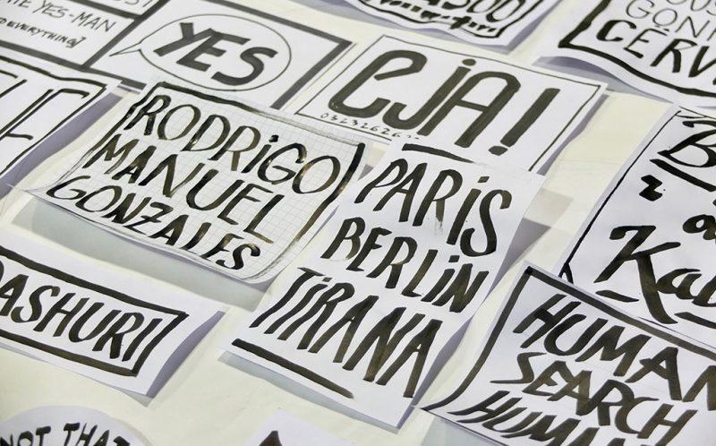 Workshop lettering/affiche/wall - Tirana- ©Romain Jimenez